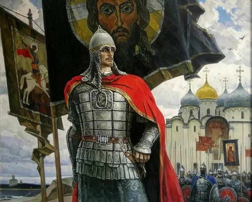 Святой благоверный князь Александр Невский, как образ патриотического вдохновения русского воинства.