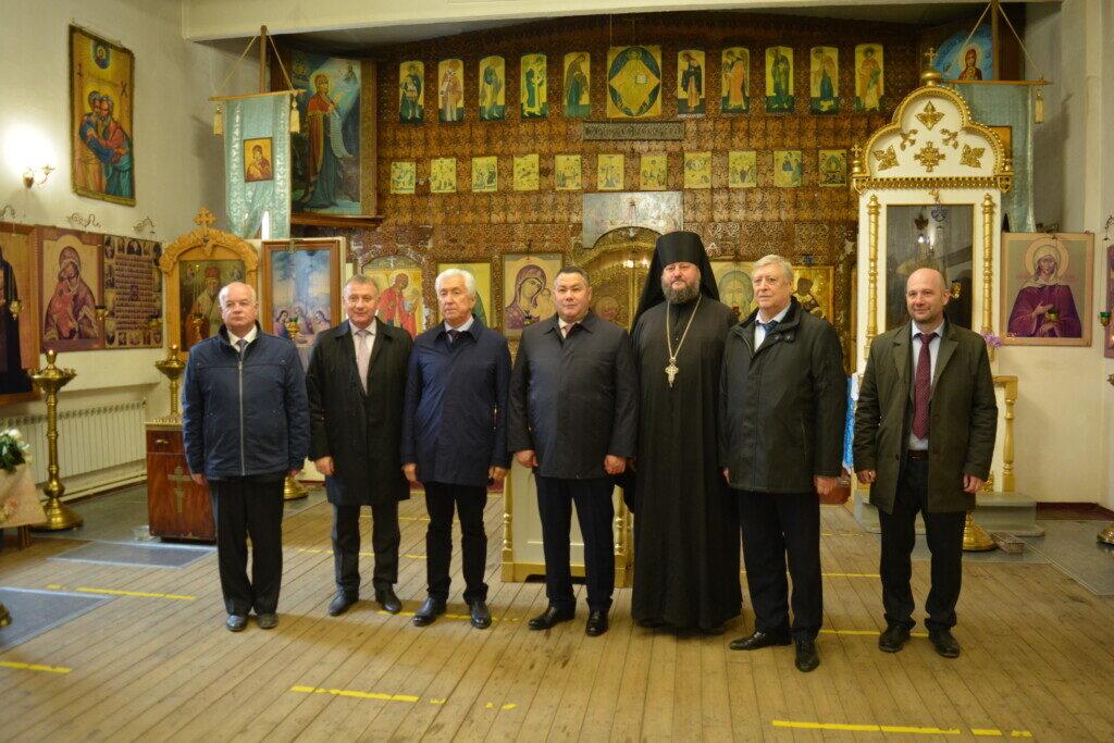 Губернатор Тверской области посетил храм Балыкинской иконы Божией Матери